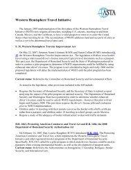 Western Hemisphere Travel Initiative - ASTA