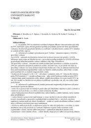 fakulta sociálních věd univerzity karlovy v praze - Univerzita Karlova