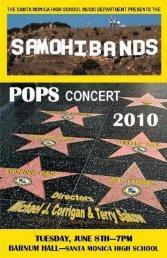 POPS CONCERT 2010 - Santa Monica High School Bands