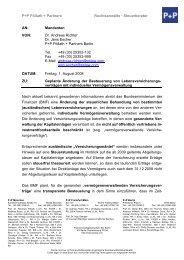 P+P Pöllath + Partners Rechtsanwälte · Steuerberater AN ...