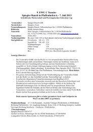 9. EWU C Turnier Spiegler Ranch in Pfaffenhofen 6. - 7. Juli 2013