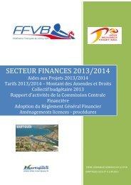Secteur Finances - Extranet FFVB - Fédération Française de Volley ...