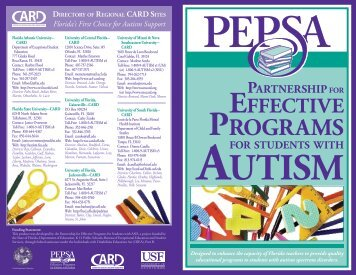 PROGRAMS - PEPSA - University of South Florida