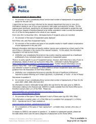 Incapacitant Spray, Taser & Firearm Incidents - Kent Police
