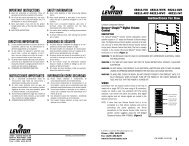 important instructions safety information instrucciones ... - Leviton