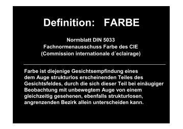 Definition: FARBE