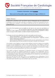 Formulaire d'information destiné au patient