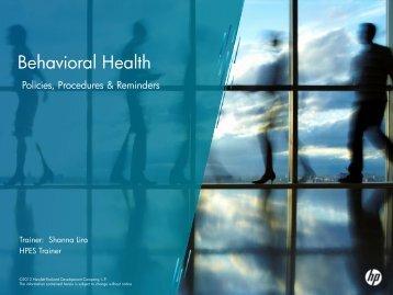 Behavioral Health - Nevada Medicaid and Nevada Check Up Home