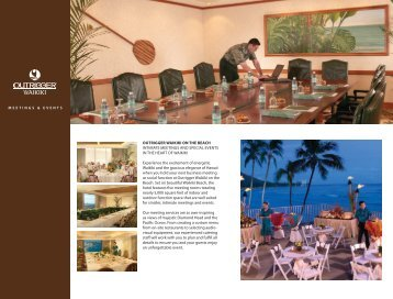 Outrigger Waikiki on the Beach Meeting Brochure - Outrigger Hotels ...