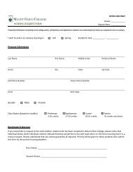 Housing Request Form - Mount Olive College
