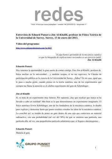 transcripción - Redes para la Ciencia