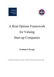 A Real Options Framework for Valuing Start-up Companies