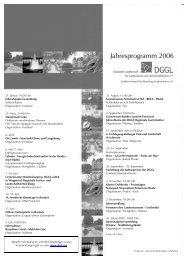 Jahresprogramm 2006 - Deutsche Gesellschaft für Gartenkunst und ...
