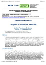 AWMF online - Guidelines on Parenteral Nutrition ... - ferronfred.eu
