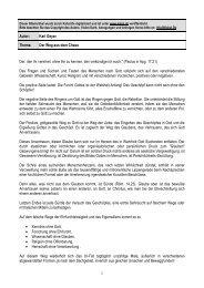 1 Autor: Karl Geyer Thema: Der Weg aus dem Chaos Der ... - Kahal.De