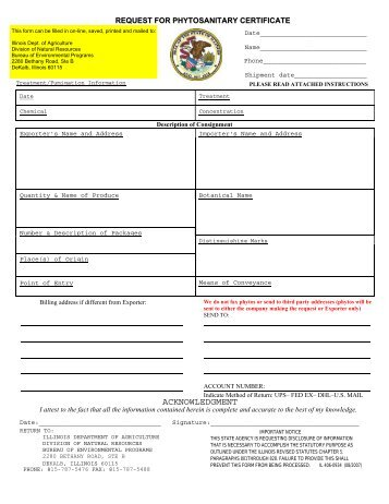 application for federal phytosanitary certificate - Idaho Department ...