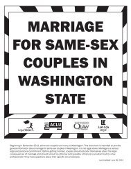 marriage for same-sex couples in washington state - ACLU of ...
