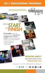 2011 Conference & Professional Events Brochure - Fabtech