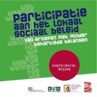 Participatiewijzer - Participatie aan het lokaal sociaal beleid van ...