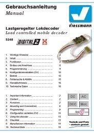 Bedienungsanleitung - Viessmann Modellspielwaren GmbH