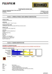 Chemwatch Australian MSDS 31-1353 - FUJIFILM Australia