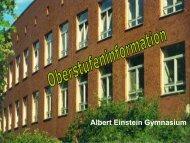 2. Besondere Lernleistung - Albert-Einstein-Gymnasium