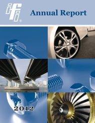 2012 Abbreviated Annual Report - Industrial Fasteners Institute