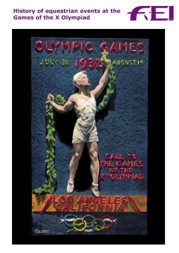 History of equestrian events at the Games of the X ... - FEI History Hub