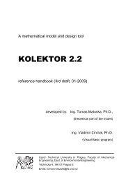 Reference Handbook KOLEKTOR 012009 - Czech Technical ...