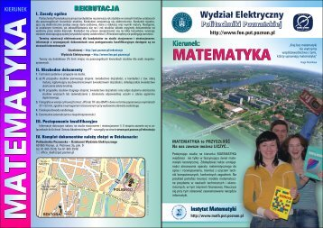 Kierunek - Instytut Matematyki PP - Poznan.pl