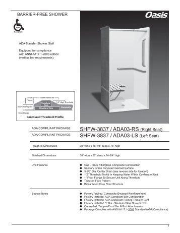SHFW-3837 / ADA03-LS - Oasis Bath