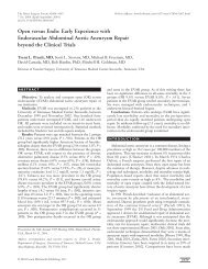 Early Experience with Endovascular Abdominal Aortic Aneurysm ...