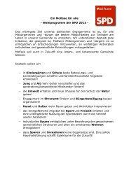 Ein Molfsee für alle - Wahlprogramm der SPD ... - SPD in Molfsee