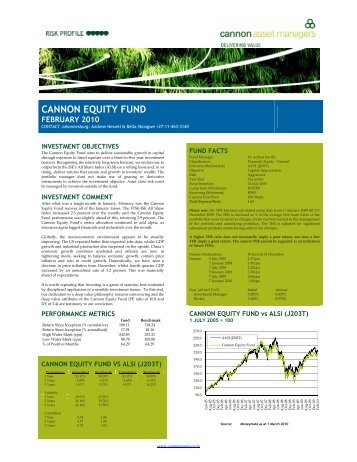 CANNON EQUITY FUND - Cannon Asset Managers