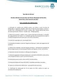 lista completa das deliberações. - Município de Barcelos