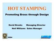 Hot Stamping - Copper Development Association