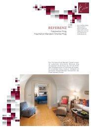 Referenzblatt - Mandarin Oriental Prag - Rolf Krebs GmbH