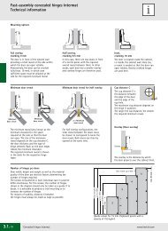 Fast-assembly concealed hinges Intermat Technical ... - Hettich