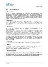 Bern zu Gast in Stuttgart - Jungfrau Region