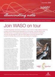December 2005 Edition - West Australian Symphony Orchestra