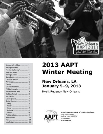 2013 AAPT Winter Meeting - American Association of Physics ...