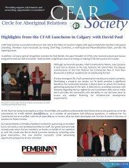 Spring 2009 - CFAR Society