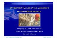 environmental life cycle assessment of thai shrimp ... - LCAfood.dk