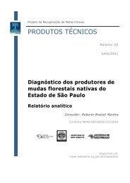 Diagnóstico dos produtores de mudas florestais nativas do - SIGAM