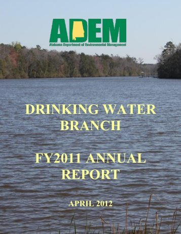 drinking water branch fy2011 annual report - Alabama Department ...