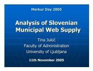 Analysis of Slovenian Municipal Web Supply