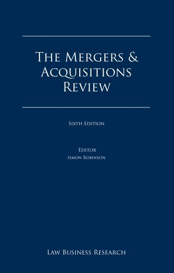 The Mergers & Acquisitions Review - CMS Ružička Csekes