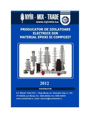 Izolatori compozit siliconice de medie tensiune - Mondo Trade