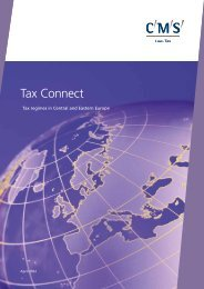 Tax Connect - Tax regimes in Central and Eastern Europe