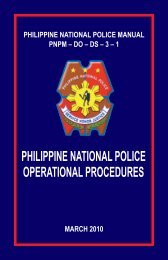Philippine National Police Manual 2010
